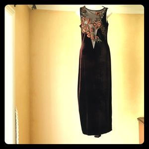 Jessica McClintock like new vintage velvet gown